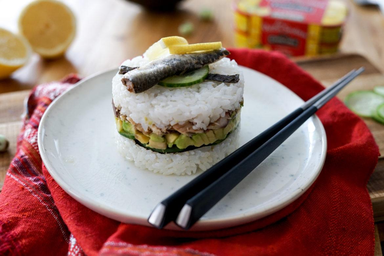Recette Sushi Cake Sardines Citron Connetable 16
