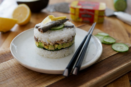 Recette Sushi Cake Sardines Citron Connetable 3