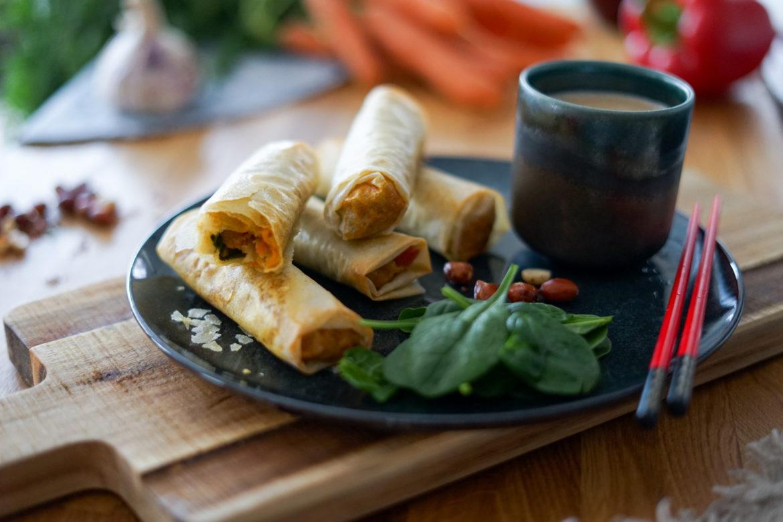 Recette Nems Legumes Sauce Cacahuete