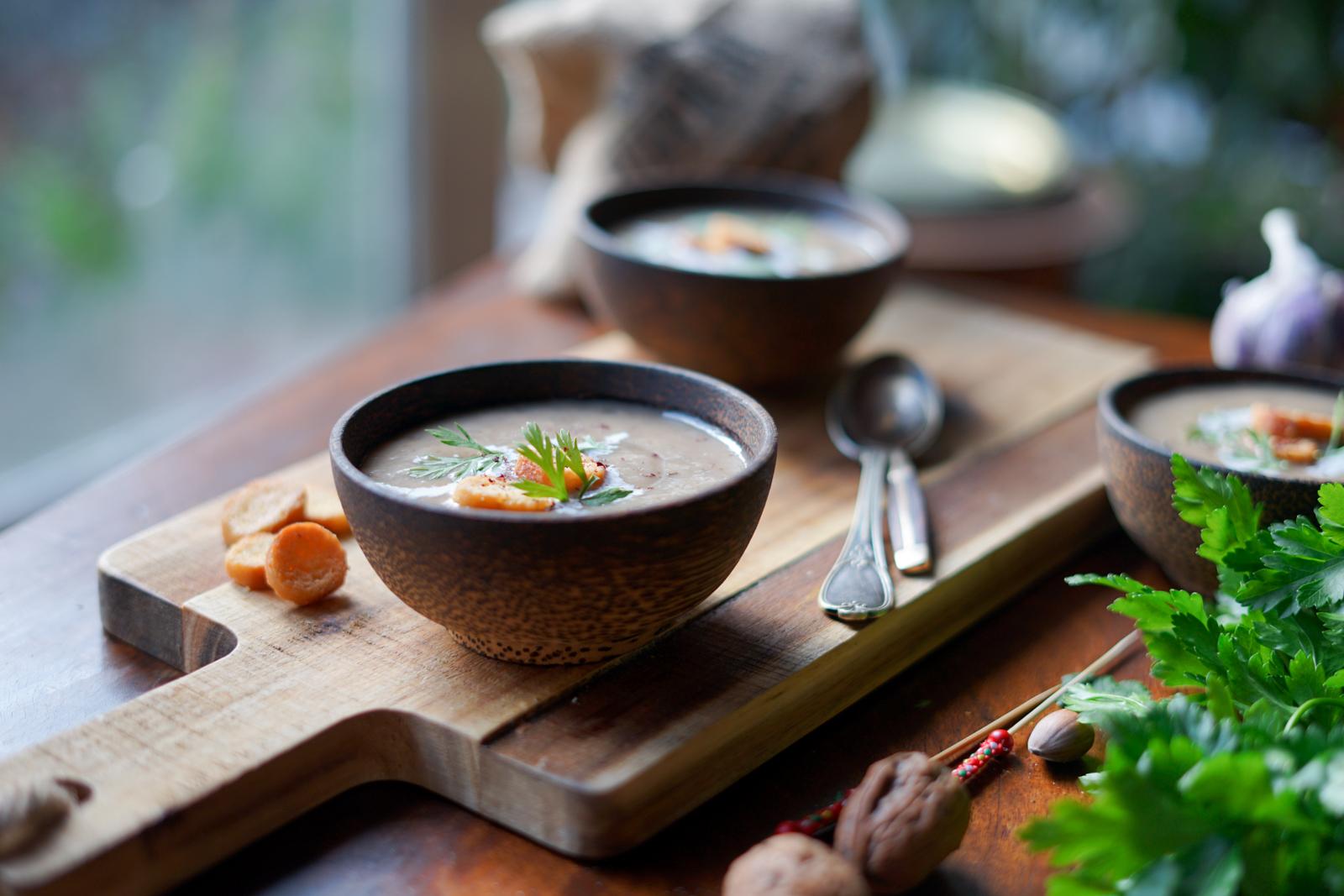 Soupe aux champignons - Les Pépites de Noisette