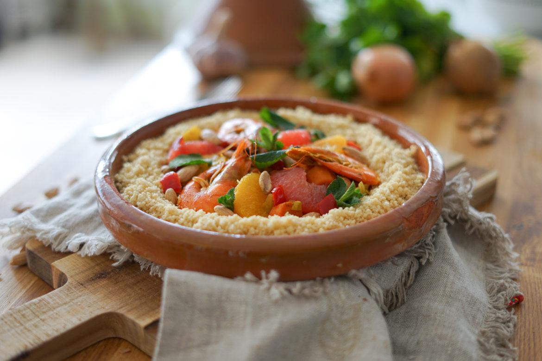 Recette Couscous Crevettes Agrumes