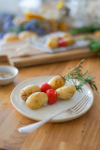 Recette Brochettes Pomme De Terre De Primeur Assiette 5