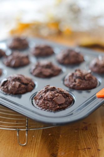 Recette Muffins Chocolat Banane 4