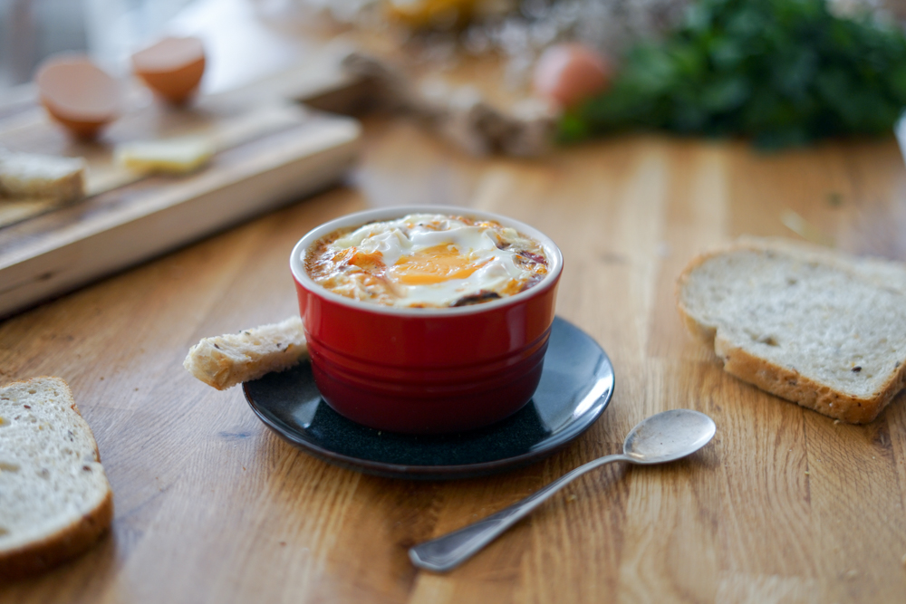 Recette Oeuf Cocotte Fromage Ratatouille 3