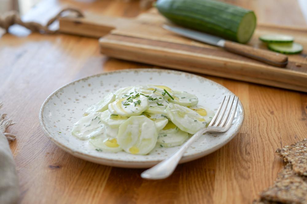 Recette Salade Concombre Creme