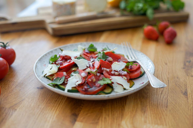 Recette Salade Fraises Soja Balsamique 3