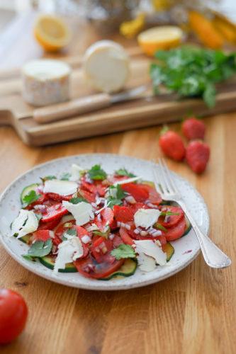 Recette Salade Fraises Soja Balsamique 6