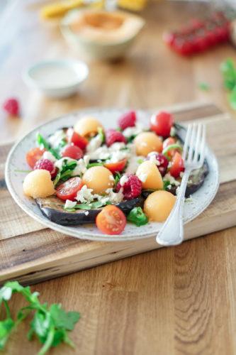 Salade Aubergine Framboise Melon 6
