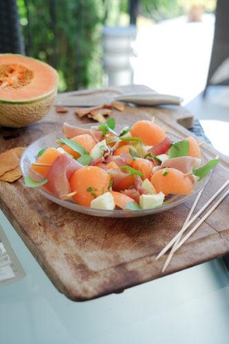 Recette Brochettes Melon Jambon Casino 31