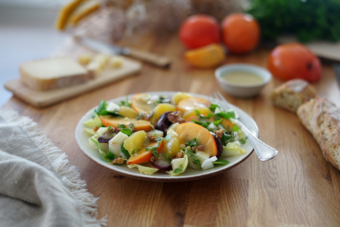 Recette Salade Kaki Betterave Orange Couv