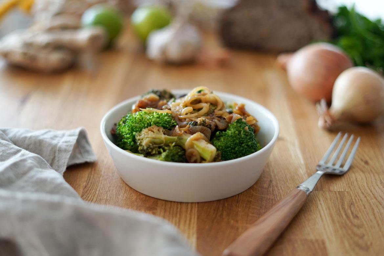 Recette Brocolis Oignons Curry 3