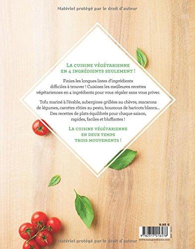 Livre Vegetarien 4 Ingredients Celine Rivier Back