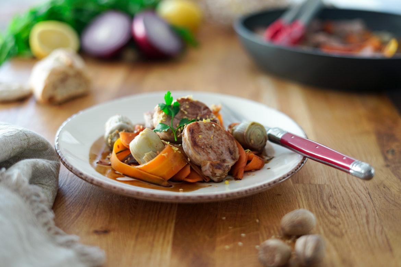Recette Filet Mignon Porc Carottes Artichauts
