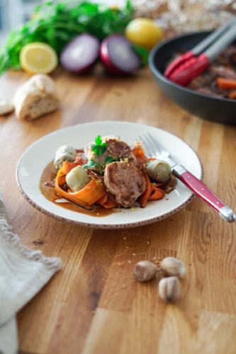 Recette Filet Mignon Porc Carottes Artichauts 9